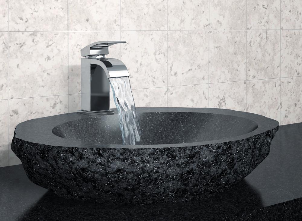 vasque poser noire en granit extension. Black Bedroom Furniture Sets. Home Design Ideas