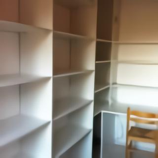 exemples d 39 am nagement de placards sous pentes et. Black Bedroom Furniture Sets. Home Design Ideas