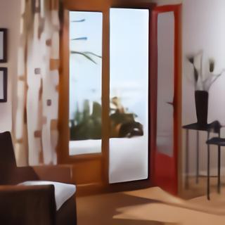 Fenêtre mixte bois aluminium vue intérieure