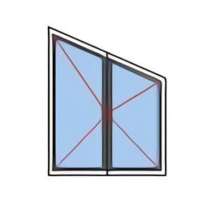 Fenêtre rénovation croisée trapèze 2 vantaux