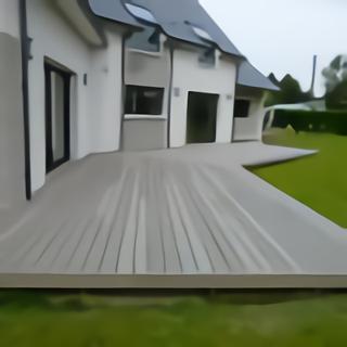 Terrasse bois vue sens longueur