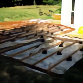 Cadre terrasse bois exotique en cours montage