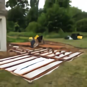Cadre terrasse bois exotique-pieux et plots