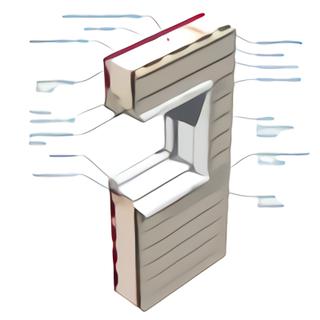 Fenêtre PVC spéciale ossature bois