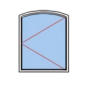 Fenêtre rénovation en demi-cintre