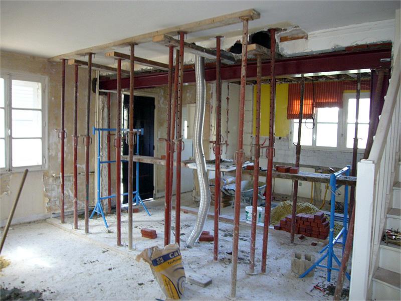 Ouverture d'un mur porteur en rénovation