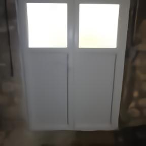 Porte fenêtre PVC accès cave intérieur