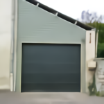 Porte garage sectionnelle bardage finition