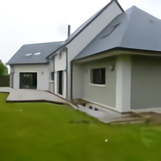 Terrasse en bois composite vue de coté