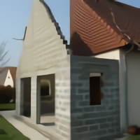Extension maçonnée vue pignon et ouvertures