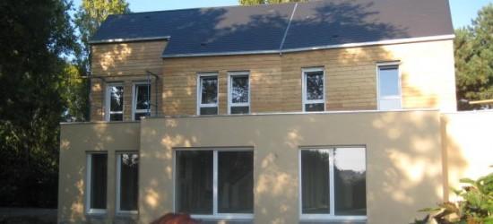 surélévation en ossature bois maison moderne