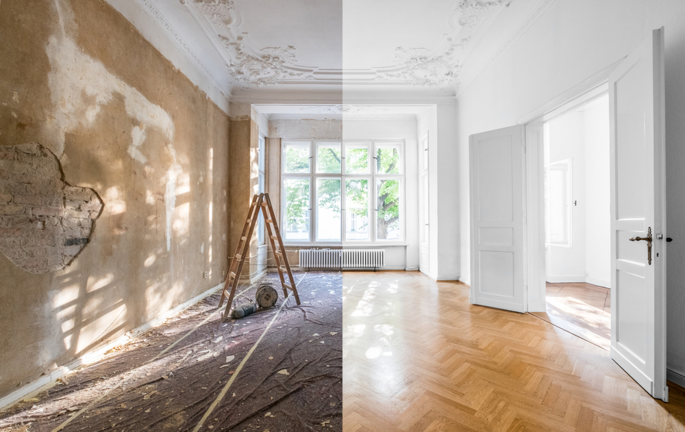 Progression des travaux de rénovation