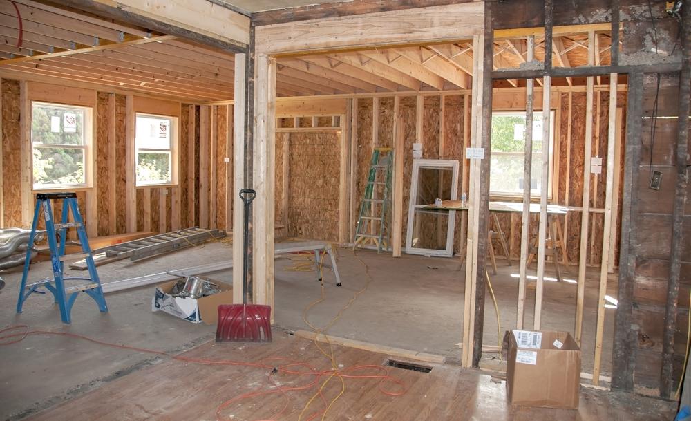Progression des travaux d'extension maison