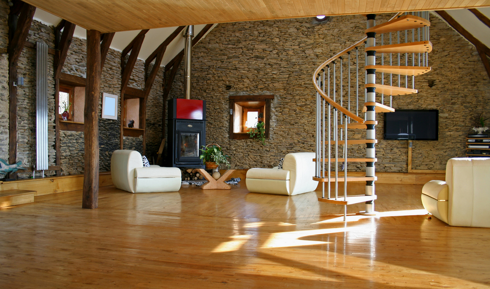 Rénovation de l'intérieur d'une longère avec escalier