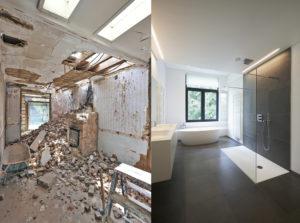 Renovation salle de bain avant apres