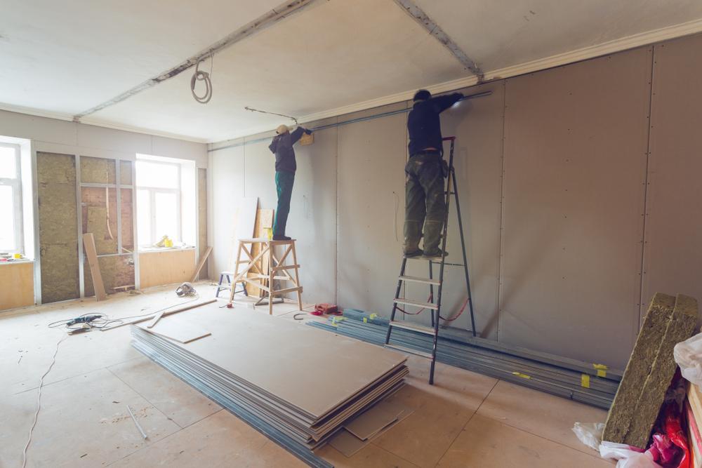 Chantier de construction, travaux à l'intérieur